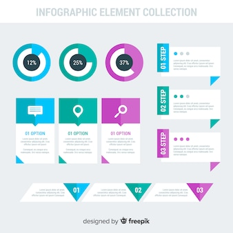 Infographic with step and options
