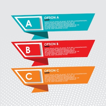 Infographic with text template