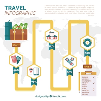 Infographic with travel elements