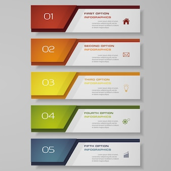 Infographic with vertical banners