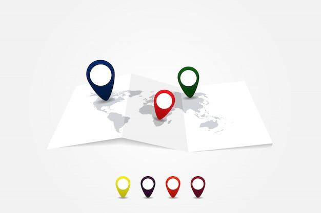 Infographic world map, transport communication information plan position