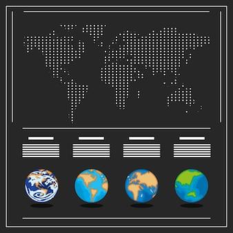 インフォグラフィックの世界地図