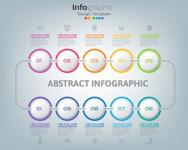 Абстрактная диаграмма процесса infographic с вариантами и значки может использовать для вашего дизайна.