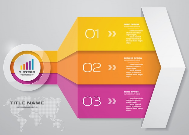 Infographics arrow chart element.