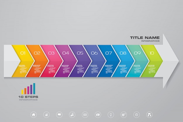 Infographics arrow chart element.
