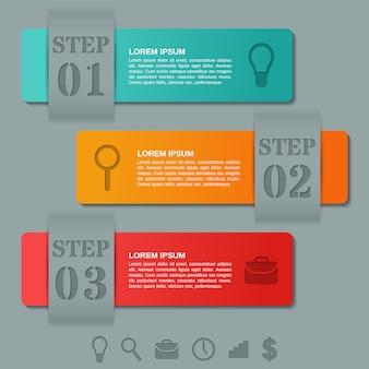 Infographics arrows templates  option, parts, steps. business .