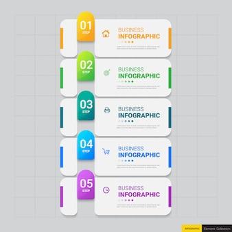 インフォグラフィックバナーテンプレート