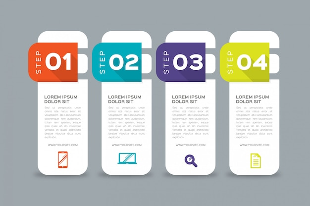 Infographics banners template multicolor vector set
