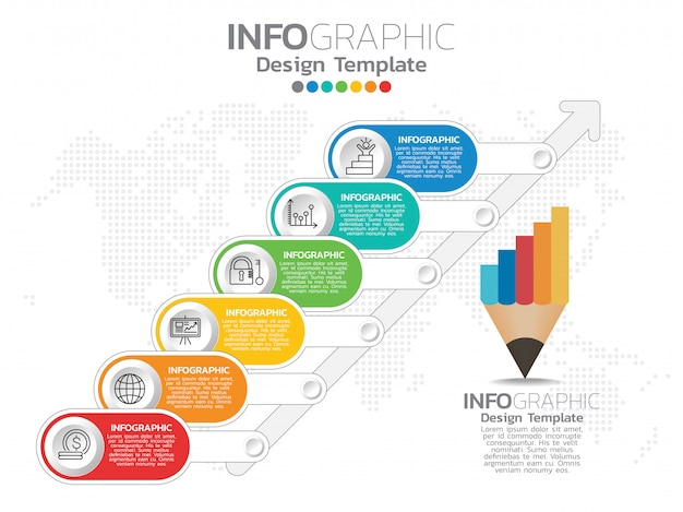 Infographics for business concept with icons and options
