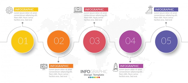 Infographics for business concept with icons and steps.