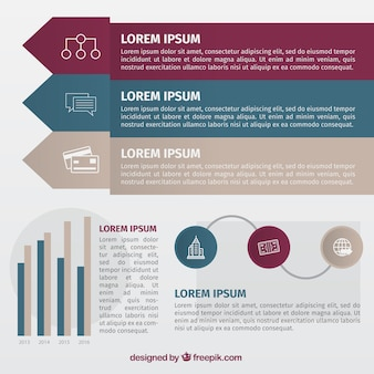 Infographics for business in flat design