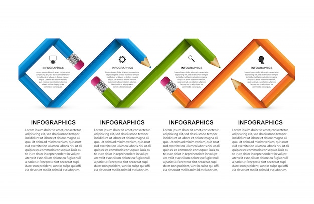 Infographics for business presentations.