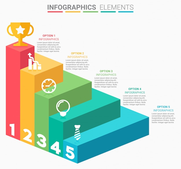 Infographics business staircase