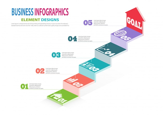 Infographics business template