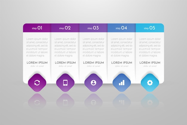 Infographics can be used for workflow layout, diagram, annual report, web design. business concept with options, steps or processes.