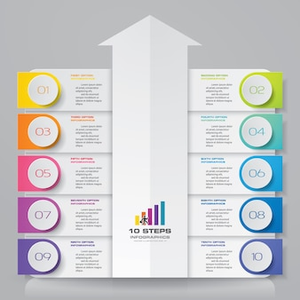 Infographics chart design element.