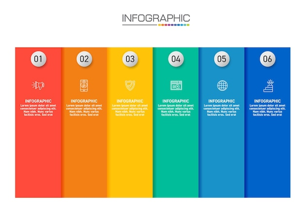 Infographics design 4 steps with marketing icons can be used for workflow layout, diagram, annual report, web design. Premium Vector