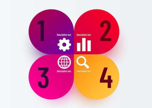 インフォグラフィックデザインとマーケティングアイコンは、ワークフローのレイアウトに使用できます。