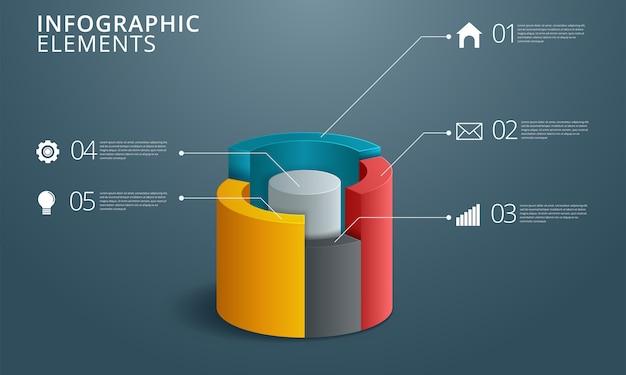 Инфографический дизайн и маркетинговые иконки