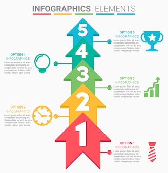 Infographics design the number top five list template
