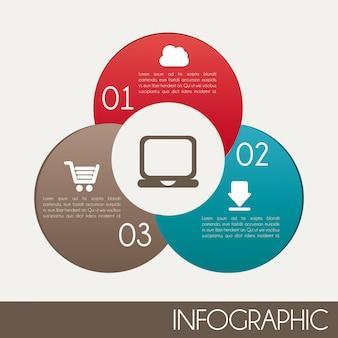 白背景上のインフォグラフィックデザイン