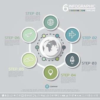 Шаблон для оформления инфографики в 6 шагов