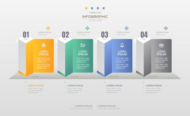 Infographics design template with business icons