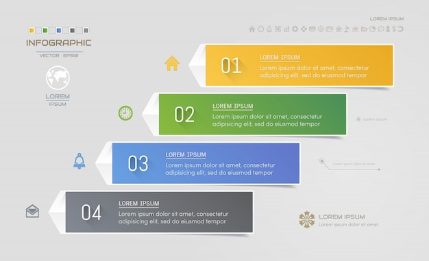 Infographics design template with icons