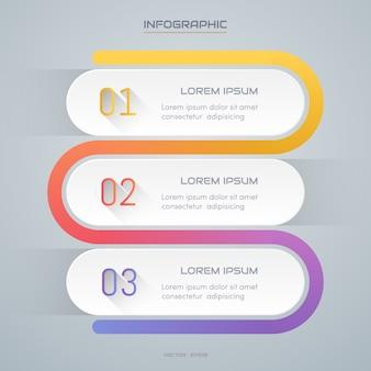 インフォグラフィックスのデザインテンプレートとアイコン