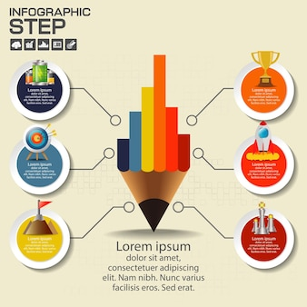 Infographics design template with options, process diagram,