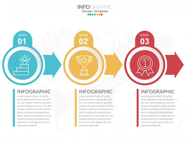 Infographics design template with options.