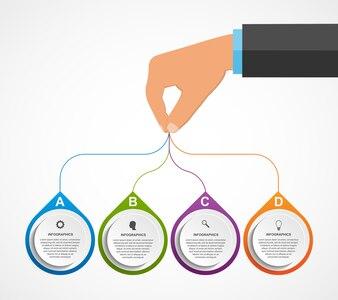 Infographics design template.