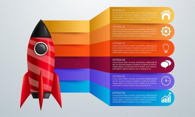 インフォグラフィックデザインベクトルとマーケティングアイコンは、ワークフローのレイアウトに使用できます