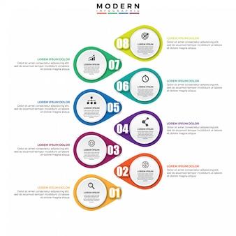 インフォグラフィックデザインベクトルとマーケティング