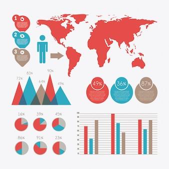 Infographics design over white background