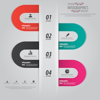 Infographics design with numbers