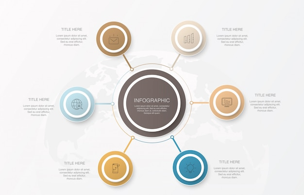 Infographics element circles and  basic colors.