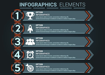 INFOGRAPHICS element the number top five list concept