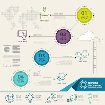 Infographics elements with business icons