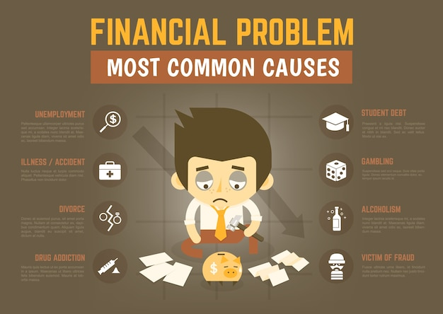 Infographics  financial problem causes