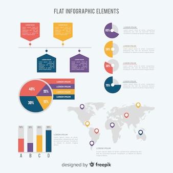 Infographics flat elements template