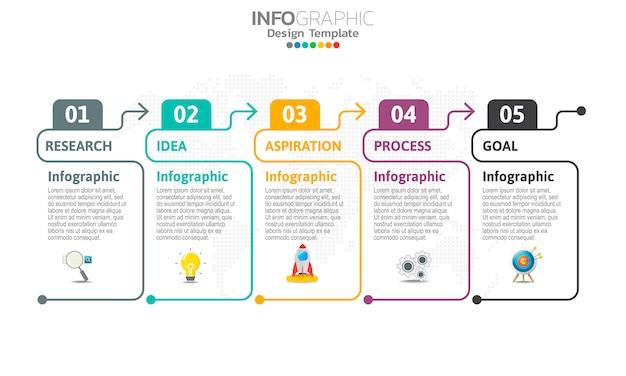 Инфографика для бизнес-концепции с иконами и варианты или шаги.