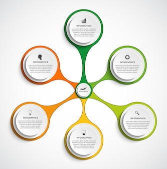 Инфографика для бизнес-презентаций или информационного баннера