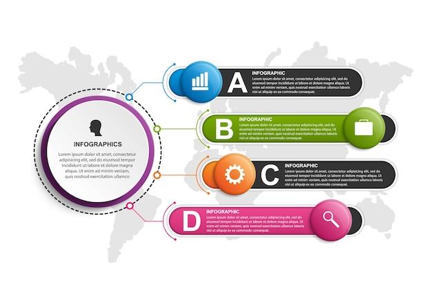 ビジネスプレゼンテーションまたは情報バナーのインフォグラフィック