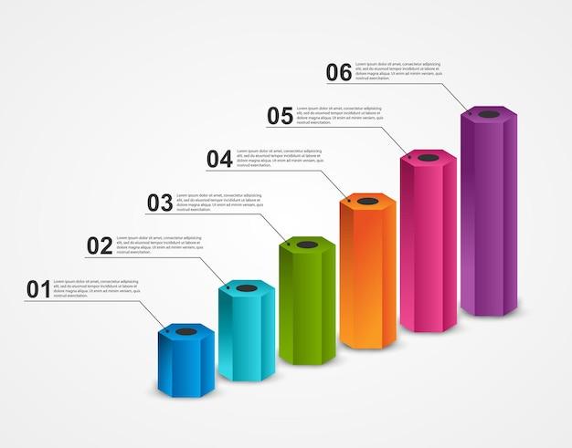 비즈니스 프레젠테이션 또는 정보 배너에 대한 인포 그래픽.