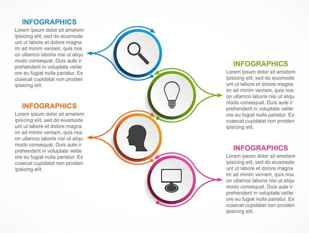 ビジネスプレゼンテーションまたは情報バナーのインフォグラフィック。