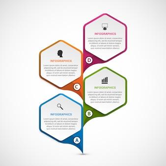 비즈니스 프레젠테이션 또는 정보 배너용 인포그래픽