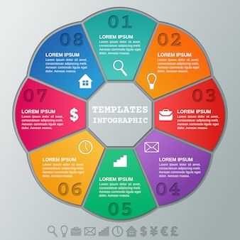 Инфографика кадры. инфографики круговые шаблоны шагов.