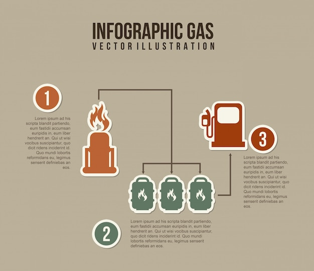 Infographics fuel over gray background vector illustration