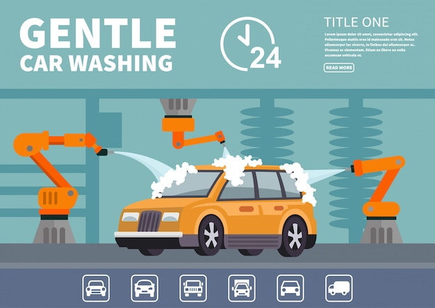 Infographics gentle car wash